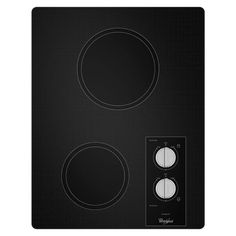Whirlpool 15 in. Ceramic Glass Electric Cooktop in Black with 2 Elements