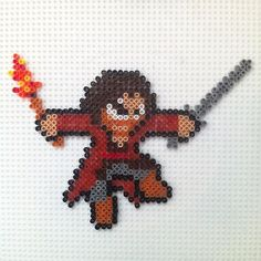 LOTR Aragorn perler beads Photo from hadavedre