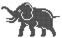 Elephant Cross Stitch, Crochet Elephant, Elephant Pattern, Cross Stitch Animals, Pearler Bead Patterns, Bead Loom Patterns, Crochet Numbers, Intarsia Knitting, Pixel Crochet