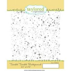 """Taylored Expressions - Twinkle Twinkle Background stamp. $15.00. Stamp measures 4.5"""" by 5.75"""" and comes on a storage panel with a color printed index. #stars #sky #galaxy #space #patterns #stamping #cardmaking #handmade #DIY #papercrafts"""