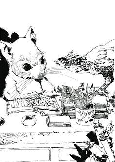 楽俊 rakushun:十二国記 Juuni Kokki/Twelve Kingdoms - art by Yamada Akihiro 山田章博