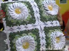 """Passo a passo: Flor do campo e flor rasteira por Marcelo Nunes. ~ """"Crochê da Mimi"""""""