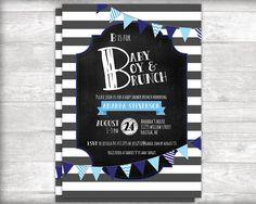 B is for Baby Boy & Brunch Shower Invitation by bydandeliondesign