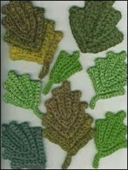 free, different leaf crochet diagrams