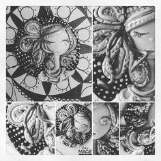 Pezzo unico! In questo periodo mi sto appassionando alle tecniche di disegno zen (doodle, zentangle, mandala...), ed ho deciso di applicarle anche su