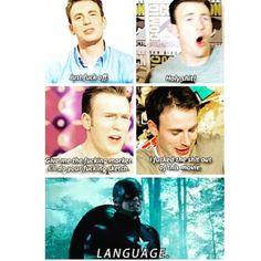 Chris Evans meeting Captain America