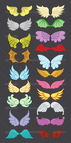 Wings Cute Collection Part II #GraphicRiver Wings Cute Collection Part II, Easy to use. ZIP file included : EPS (CMYK vector file = you can use any size you want without loss resolution), JPEG (RGB high resolution file 3543×7087 px), Ai 10, PNG and PDF . No layers. Use Adobe Illustrator 8 or higher to edit EPS (vector file) or Adobe Photoshop to edit JPEG file. You can see detail in Screenshots menu. Created: 24August13 GraphicsFilesIncluded: TransparentPNG