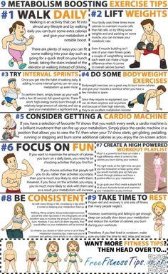9. #Poussée que le métabolisme - 19 #meilleur exercice #infographie pour votre #corps parfait... → #Fitness