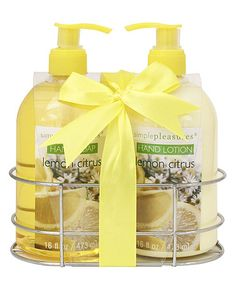 Look what I found on #zulily! Lemon Citrus Hand Soap & Lotion #zulilyfinds