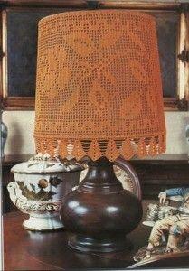 Filet patroon voor decoratie lampenkap tafellamp 1