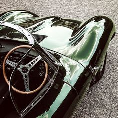 calzoleria-lbardi: The Jaguar XKSS, inspiration for our men's British racing green driving loafers www.andytom.com