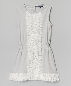 Look at this #zulilyfind! Gray Stripe Party Dress by Millions of Colors #zulilyfinds