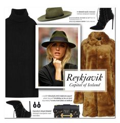"""""""How to Style an LBD with a Teddy Bear Coat for Travel to Reykjavik this Spring"""" by outfitsfortravel ❤ liked on Polyvore featuring Au Jour Le Jour, The Elder Statesman, rag & bone, Oscar Tiye, Prada, Balmain and Oscar de la Renta"""