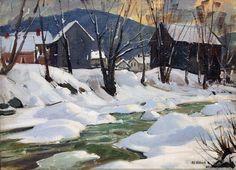 """""""Jamaica Village, Vermont,"""" Aldro Thompson Hibbard, oil on board, 17 x 23"""", private collection."""