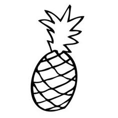 Simple Pineapple Outline Png