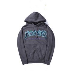 Thrasher Magazine Flame Logo Dark Gray Hoodie