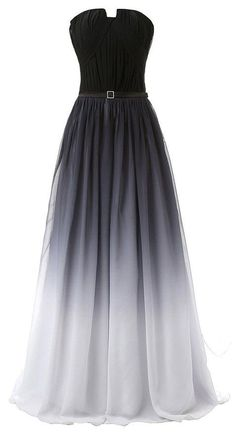 Hot Sales Navy Blue Ombre Prom Dress,Gradient Chiffon Long Prom Dresses,Black…