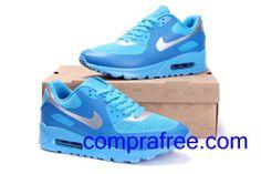 Comprar barato hombre Nike Air Max Zapatillas (color:azul,plata) en linea en Espana. Nike Air Max, Air Max 90, Air Max Sneakers, Sneakers Nike, Zapatillas Nike Air, Color Azul, Shoes, Fashion, Shopping