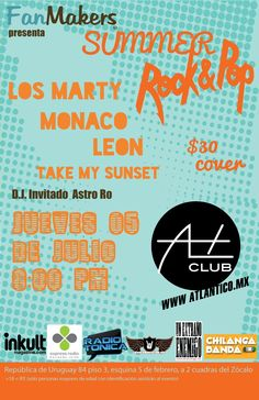 Summer Pop con Los Marty en el DF - Chilanga Banda #Mexico