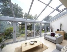 Open Bright space with Lean To Roofing and Bi-Fold Door Combination