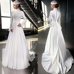 Awesome Muslim Wedding Dresses Find a Luxury Ivory Chiffon Hijab Muslim Wedding Dress 2016 Beaded Lace High Nec... Check more at http://24myshop.ml/my-desires/muslim-wedding-dresses-find-a-luxury-ivory-chiffon-hijab-muslim-wedding-dress-2016-beaded-lace-high-nec/