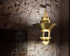 Reflections, Product, Fambuena luminotecnia s. Brass Pendant Light, Led, Wood Pieces, Reflection, Wall Lights, Lighting, Pendants, Proposal, Trendy Tree