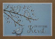 In dit blogbericht zie je een gestempelde kaart met vogeltjes.