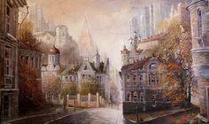 Картины Александра Стародубова. Старая Москва