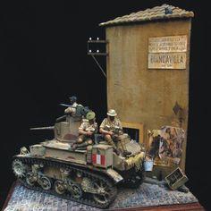 British Stuart in Italy  diorama 1/35  Unknown Modeler  From: Pinterest  #scalemodel #plastimodelismo #miniatura #hobby #diorama #war #guerra #guerre #bataille #plastickits #usinadoskits #udk #plasticmodel #plastimodelo #plamodel #miniatura #miniature #miniatur #maqueta #maquette #modelismo #modelisme