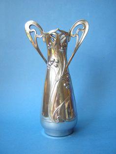 German pewter vase made by WMF, c.1905
