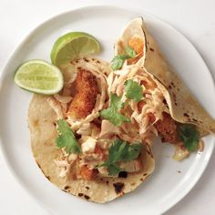 Smoky Chicken Tacos : these were great and fast.  The creamy chipotle coleslaw is wonderful.