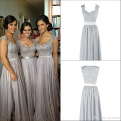 Real Photo Lace V Neck Long Chiffon Bridesmaid Dresses Hot Selling Floor Length Formal Women Evening Gowns Beach Wedding Guest Dresses Violet Bridesmaid Dresses White Bridesmaids Dresses From One Stopos, $117.43| Dhgate.Com