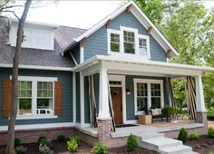 Exterior Paint Color. Exterior Paint Color Ideas. The siding color of this home is a PPG (Porter Paint) color called Cannon Gray. #ExteriorPaintColor. Designed by Everything Home by Wendy Langston.