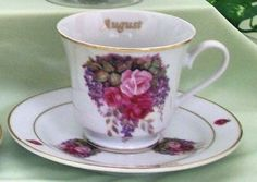 Flower of the Month Teacup - August