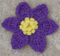 Free Crochet Pasque Flower Pattern  love her book - she is great