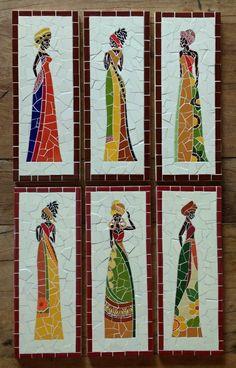 Trio de Africanas Tam: 14cm x 36cm
