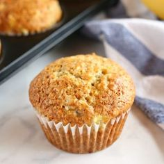 Girls loved these! These Best Ever Banana Muffins are the best banana muffins you'll ever try - crispy on the outside and fluffy on the inside! And so easy to make in only one bowl! Ready in minutes! Steak Fajitas, Granola, Cupcakes, Muffin Recipes, Banana Recipes, Banana Snacks, Cupcake Recipes, Dessert Recipes, Artisan Bread