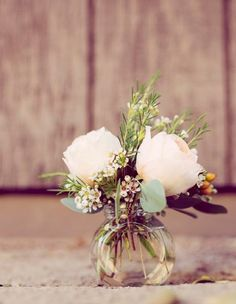 Country Romance – Pastel Spring Wedding Inspiration from Ashley DePencier Photography Creative Wedding Ideas and Event Design Wax Flowers, Table Flowers, Small Flowers, Beautiful Flowers, Purple Flowers, Country Flower Arrangements, Floral Arrangements, Table Arrangements, Floral Wedding