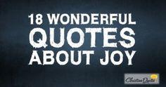 18 Wonderful Quotes about Joy