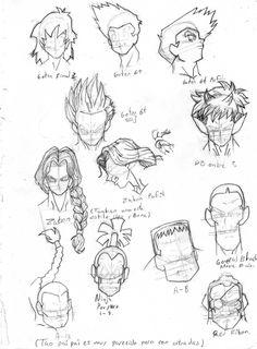 cabelleras de personajes clasicos db