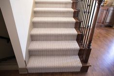 Stair carpet runner top of stairs ideas home decor decorating amusing stairway runners design Grey Carpet Hallway, Stairway Carpet, Basement Carpet, Hotel Carpet, Diy Carpet, Rugs On Carpet, Carpets, Wall Carpet, Cheap Carpet