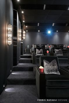 Home Theater Setup with Home Theater Seating Home Theater Basement Home Theater Basement, Home Theater Room Design, Movie Theater Rooms, Home Cinema Room, Home Theater Decor, Best Home Theater, Home Theater Seating, Home Decor, Home Theatre Rooms