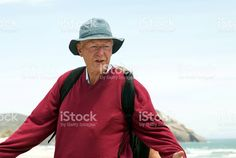 Senior Man walking at the Beach royalty-free stock photo Beach Photos, Walk On, Image Now, Commercial, Royalty Free Stock Photos, Bomber Jacket, Photography, Twitter, Framed Prints