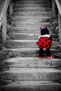 Little Babybug | #black & #white ✿ #colorsplash photography