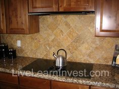 Back Splash Tile Ideas subway tiles with mosaic accents |  backsplash with tumbled