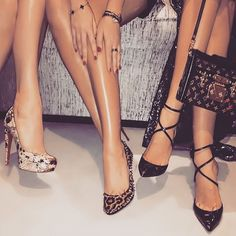 I like the strappy shoes on the right