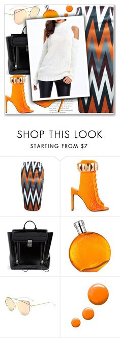 """#24"" by lejla-7 ❤ liked on Polyvore featuring Privileged, 3.1 Phillip Lim, Hermès and Topshop"