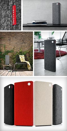 Incredibly luxurious speakers designed for Libratone. Both are available in the Apple Store.