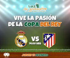 Disfruta la Copa del Rey con nosotros. #LasDeGuanatos #Copa #España #DelRey #Octavos #RealMadrid #AtléticoDeMadrid #Fútbol #Pasión