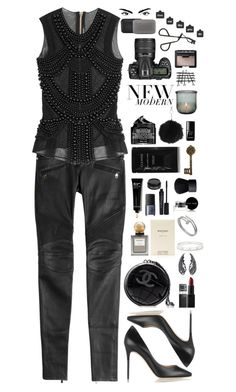"""""""Untitled #398"""" by pinkandgoldsparkles ❤ liked on Polyvore featuring Balmain, Jimmy Choo, Chanel, Cartier, NARS Cosmetics, Bobbi Brown Cosmetics, Smashbox, Lord & Berry, Cleanse by Lauren Napier and Peter Thomas Roth"""